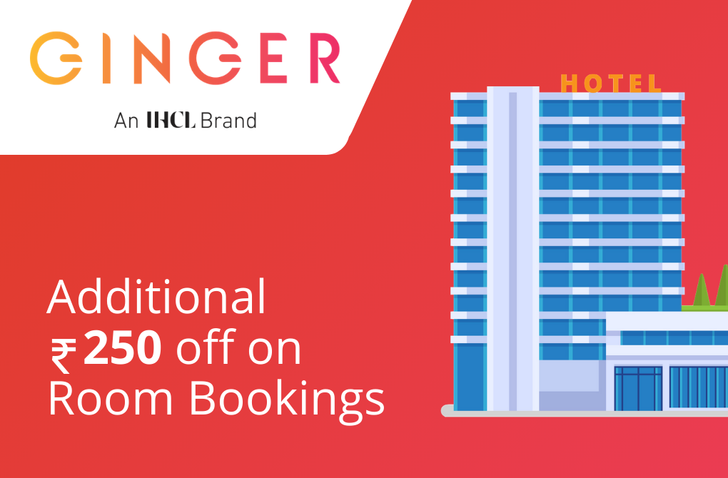 Additional Rs.250 off on Room Bookings