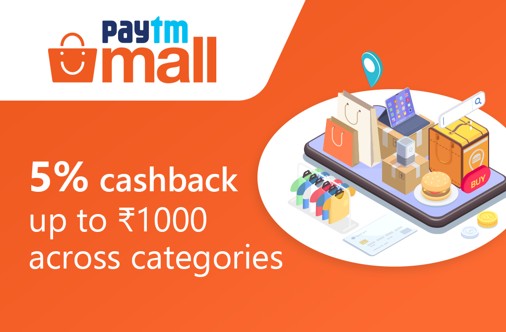 Get 5% cashback from Paytm Mall