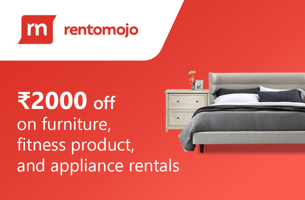 Rs.2000 off on furniture, fitness products, and appliance rentals