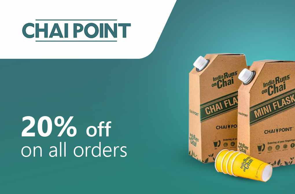 Get 20% off from Chai Point