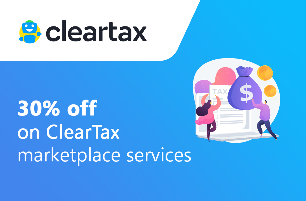Get 30% off on ClearTax Marketplace Services