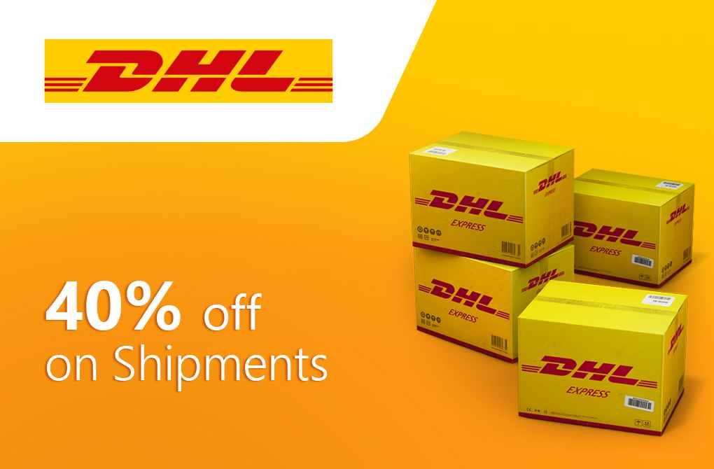 Get 40% off on International Shipments
