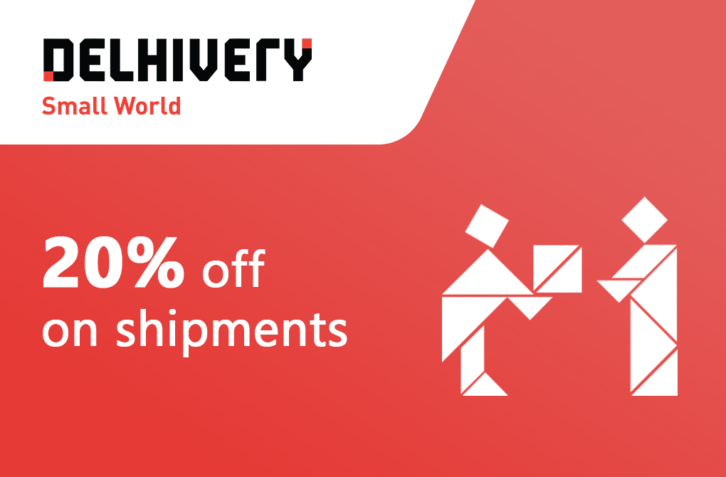 Get 20% off from Delhivery
