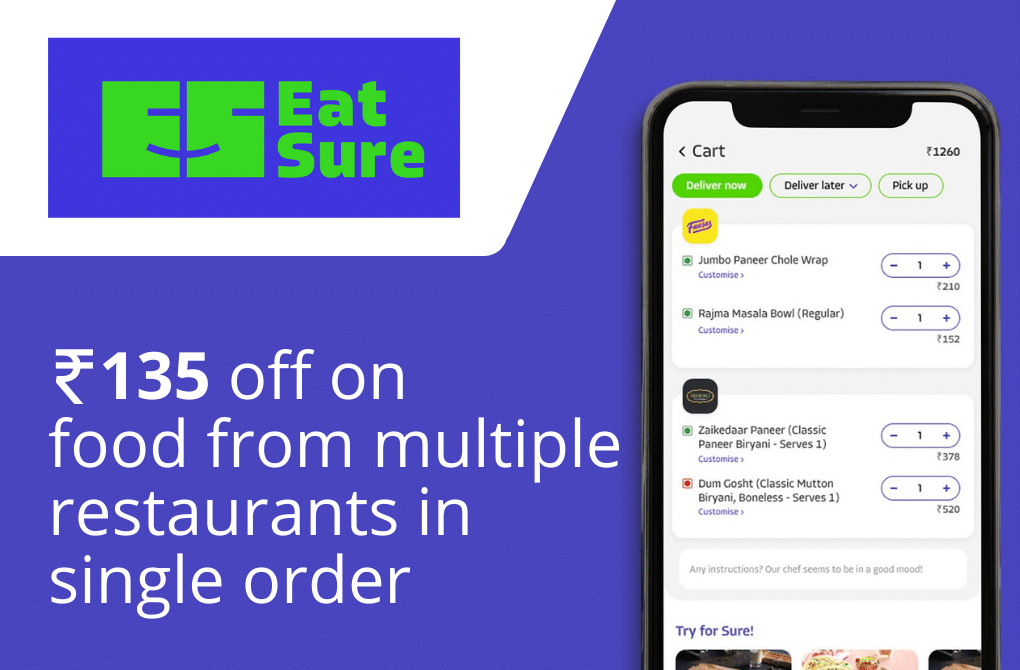 Flat Rs.135 off from Eatsure