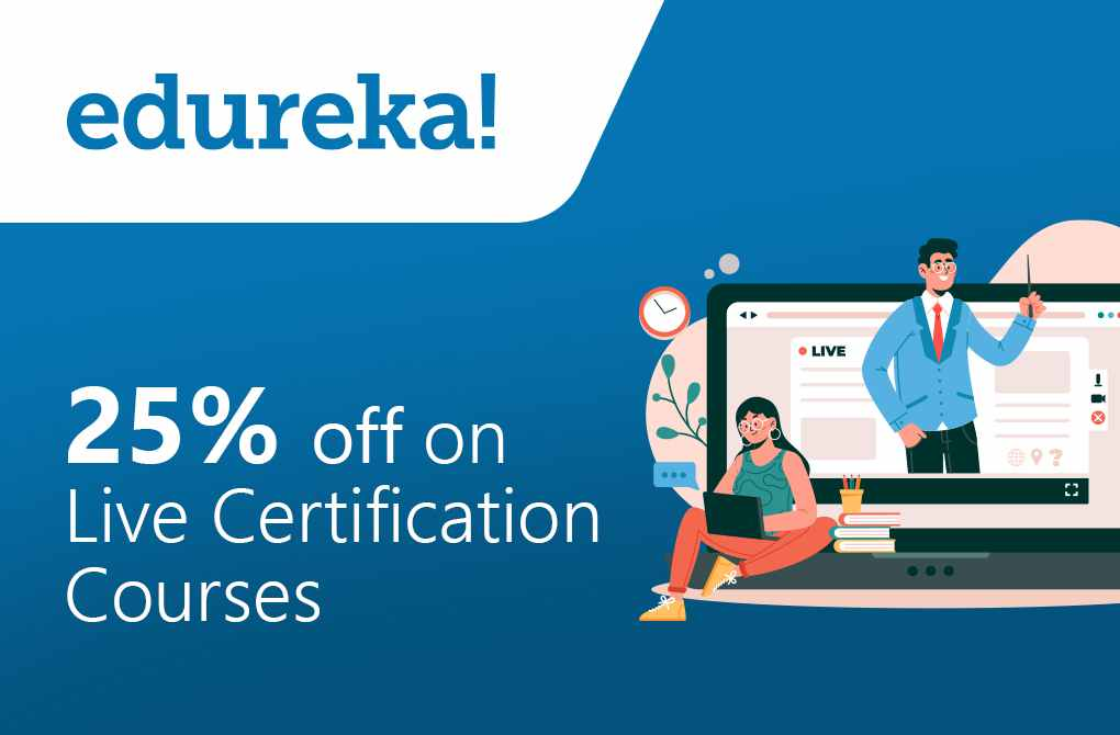 Get 25% off on Live Certification Courses
