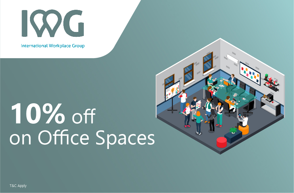 10% off IWG Workplaces