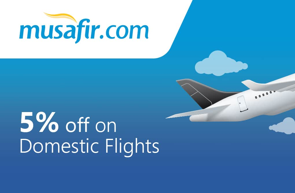 Get 5% off on Domestic Flights