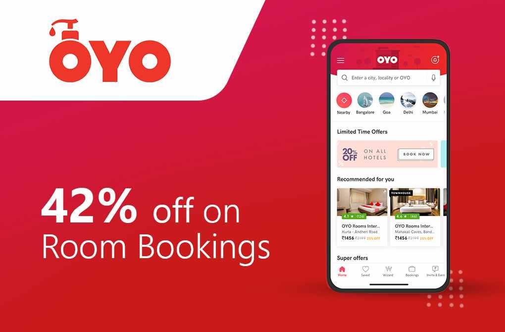 Get 42% off on Room Bookings