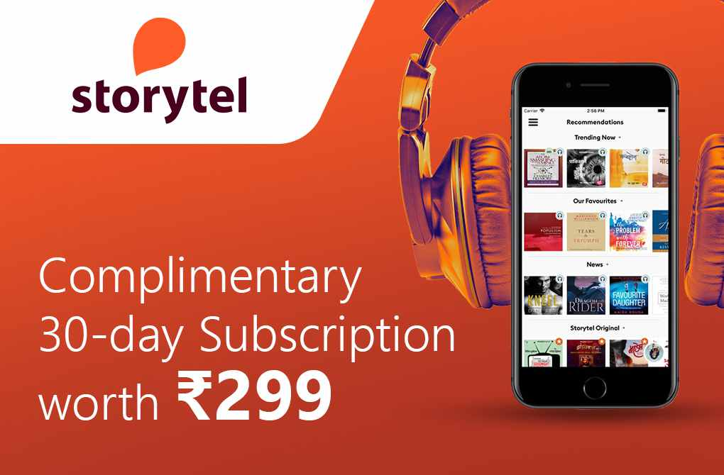 Get 1-month free subscription from Storytel
