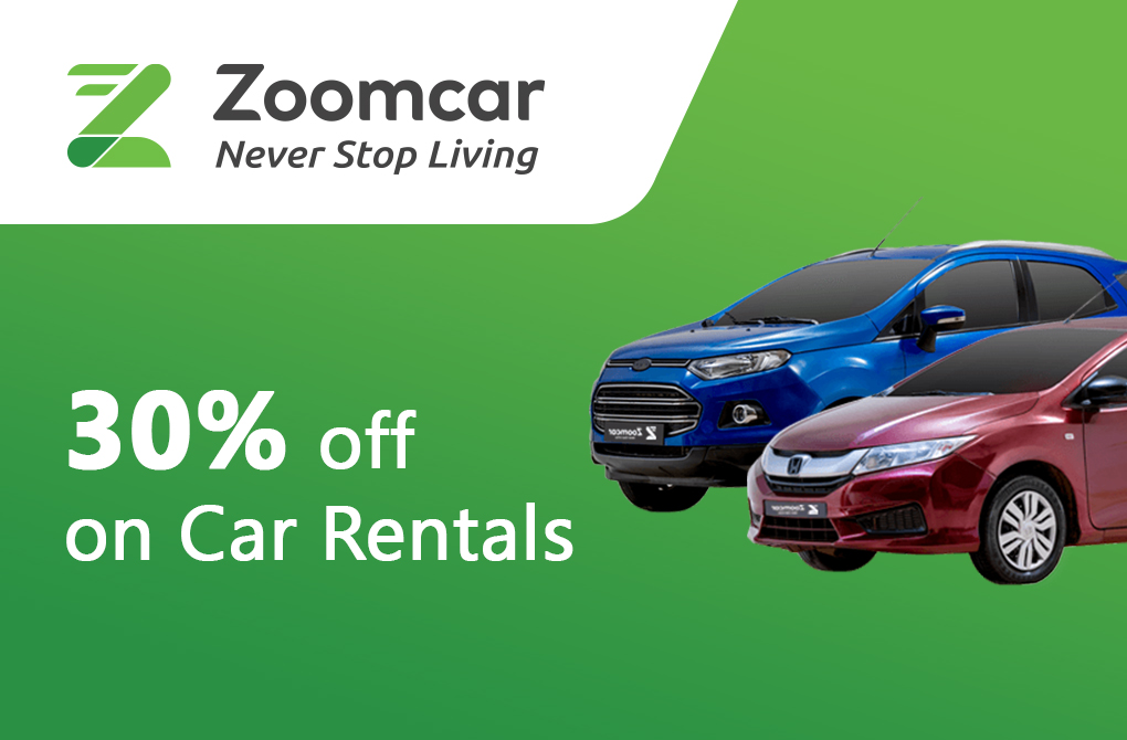 Up to 30% off from Zoomcar Rental