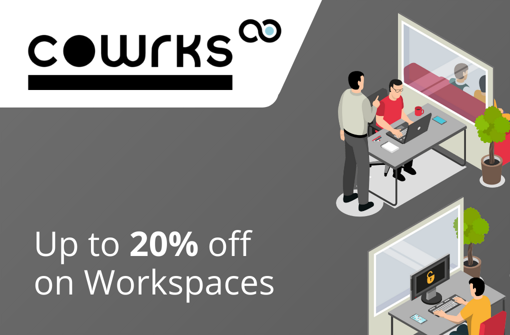 Up to 20% off on Co-working Solutions