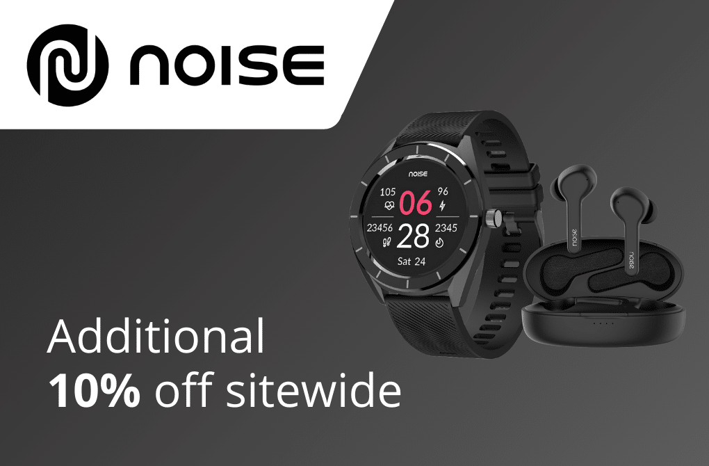 Get extra 10% off from Noise