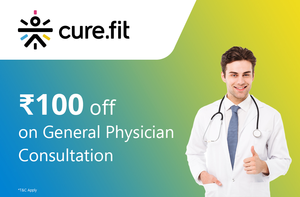 Get Rs.100 off on doctor consultation