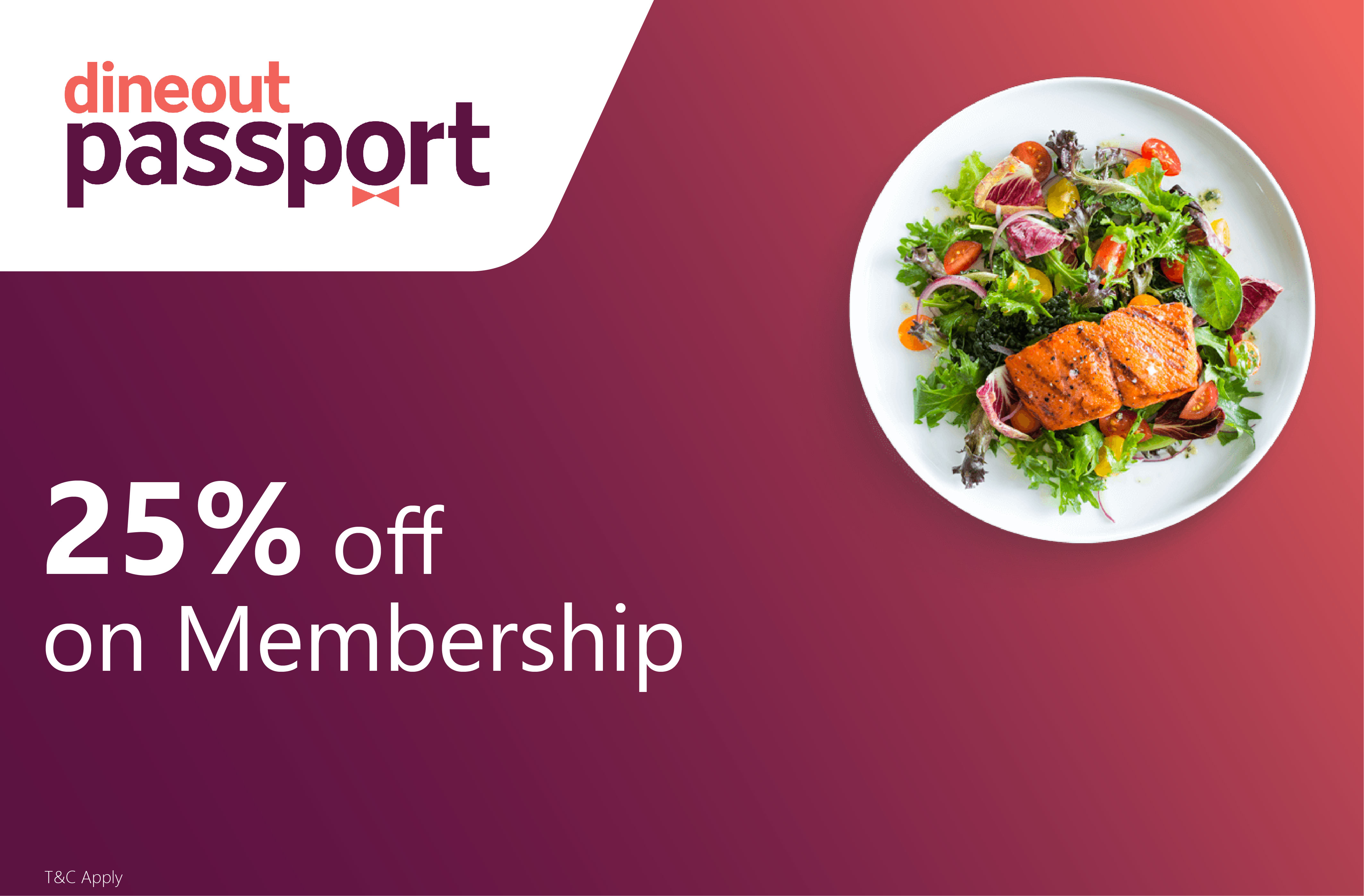 Get 25% off on Dineout Passport Membership