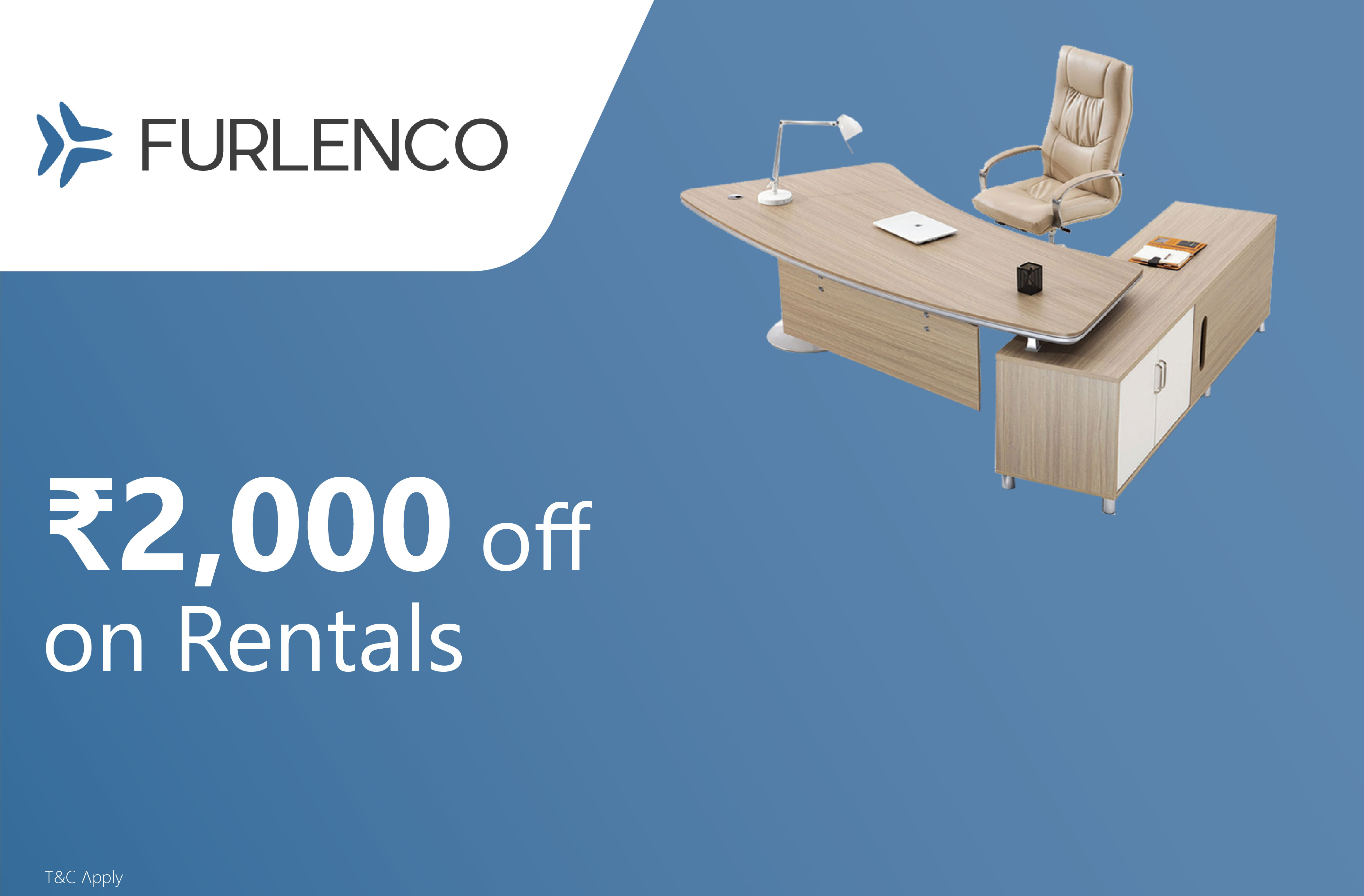 Rs.2000 off on Furniture & Appliances Rentals