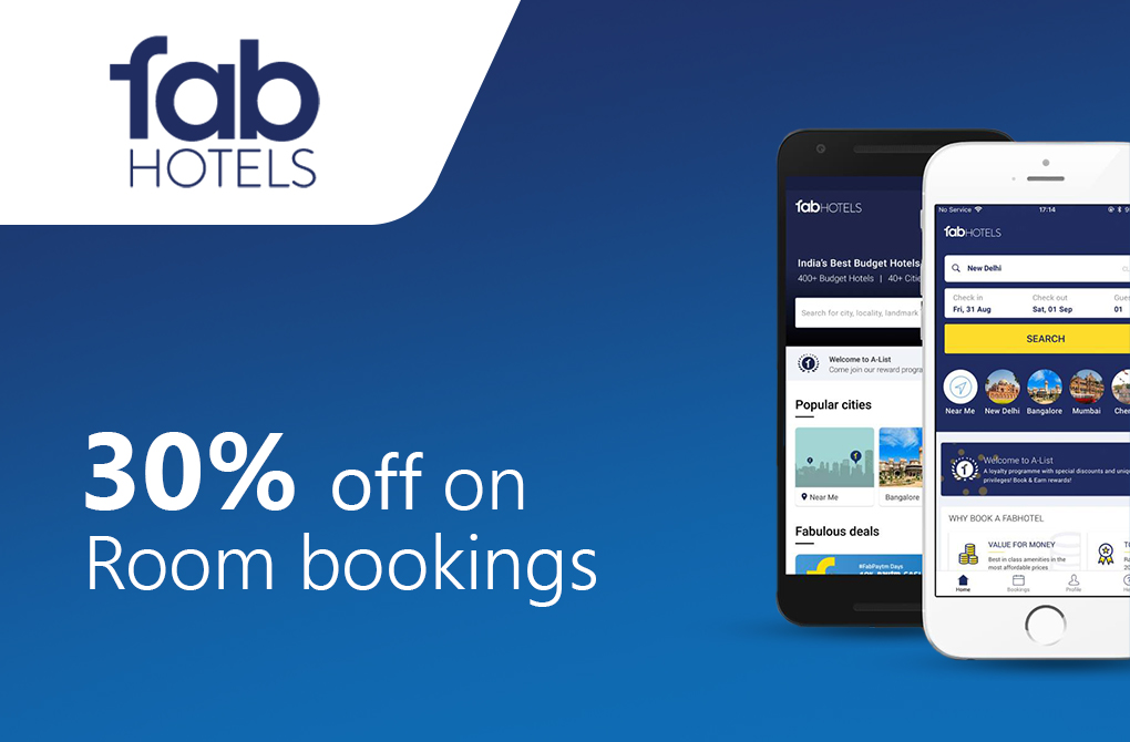 Flat 30% off on Hotel Bookings