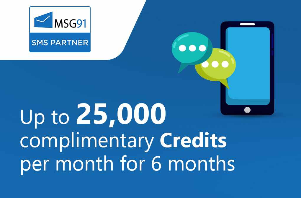 Free 25000 Messaging credits per month