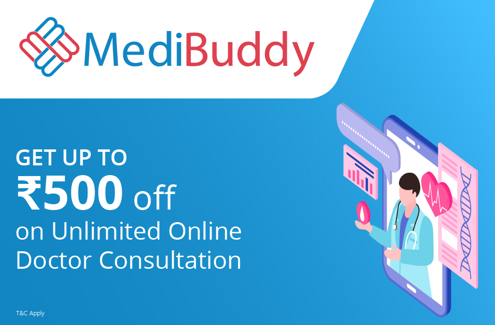 Rs.500 off on Medibuddy Gold