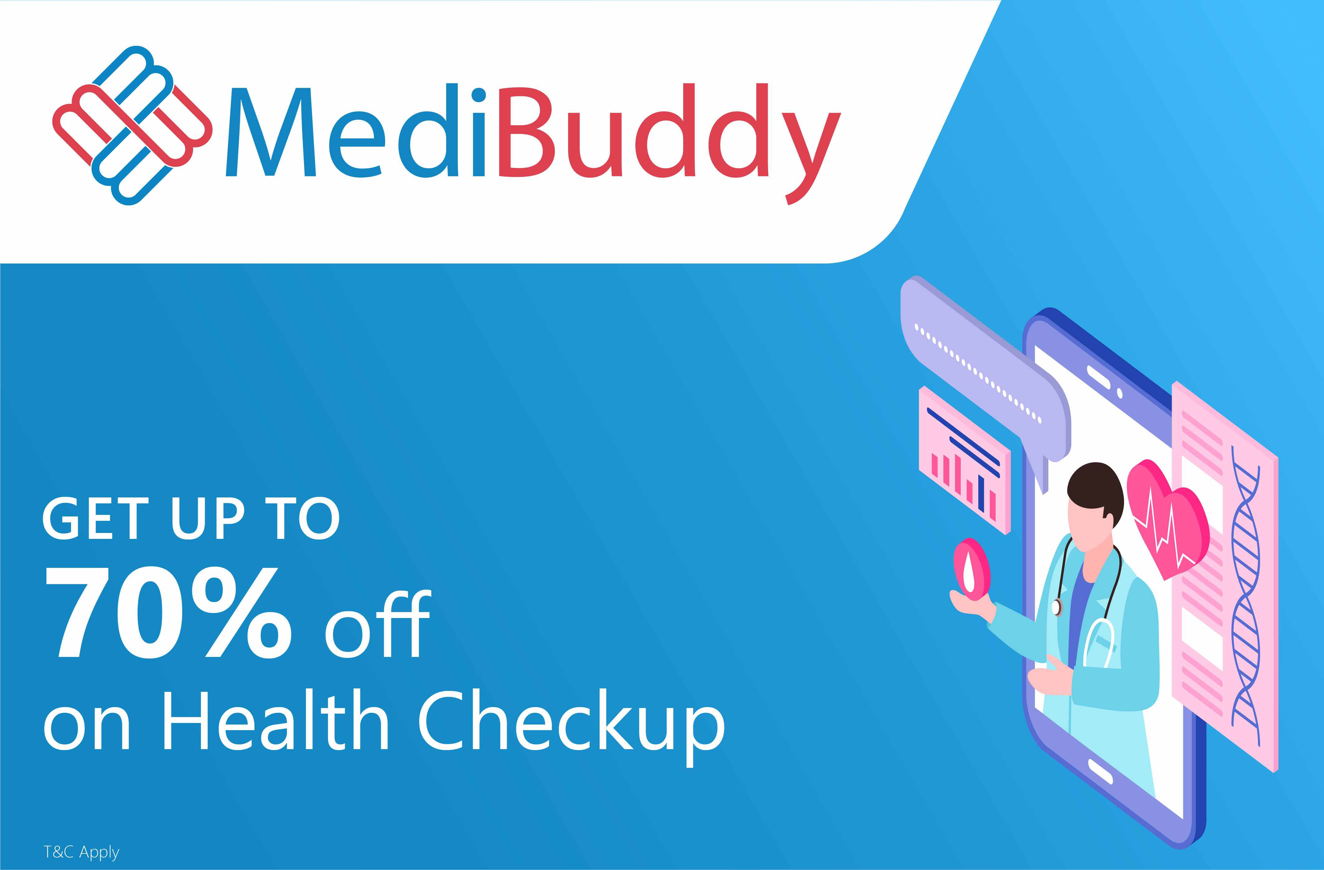 Up to 70% off on Health CheckUp