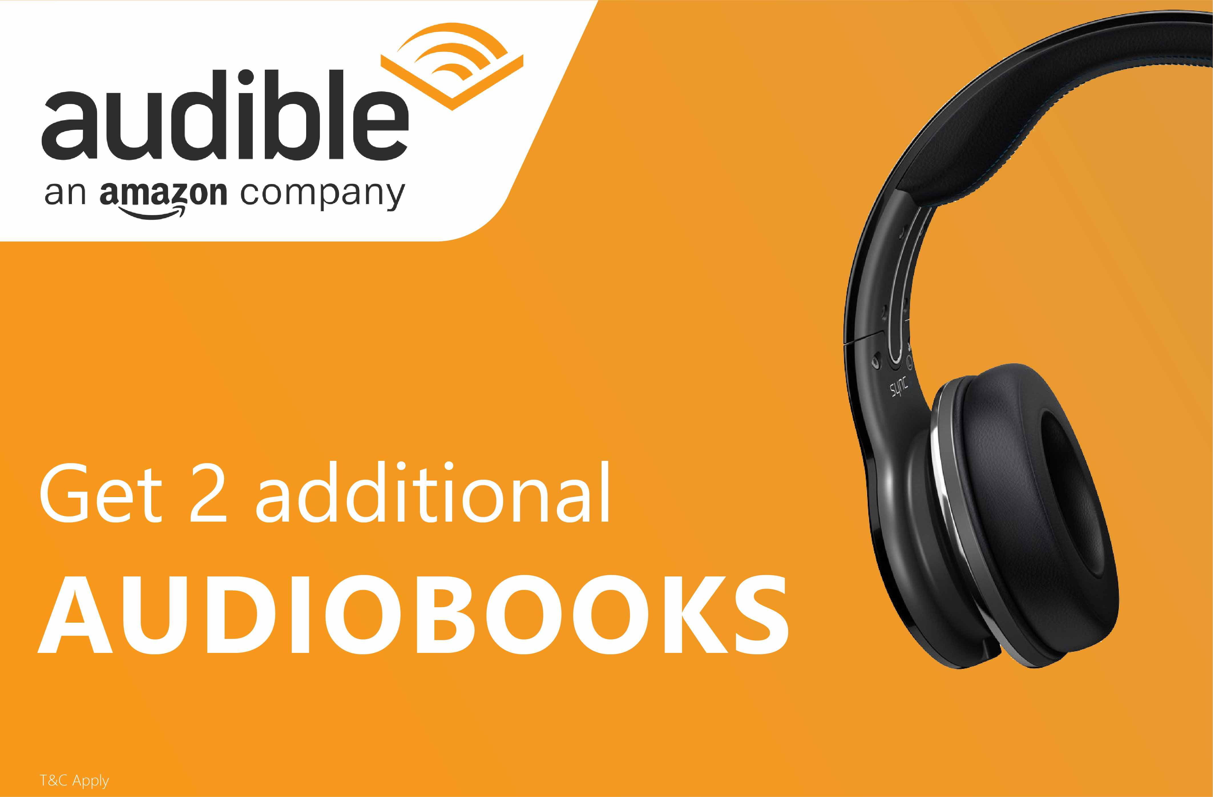 Get 2 additional audiobooks from Audible