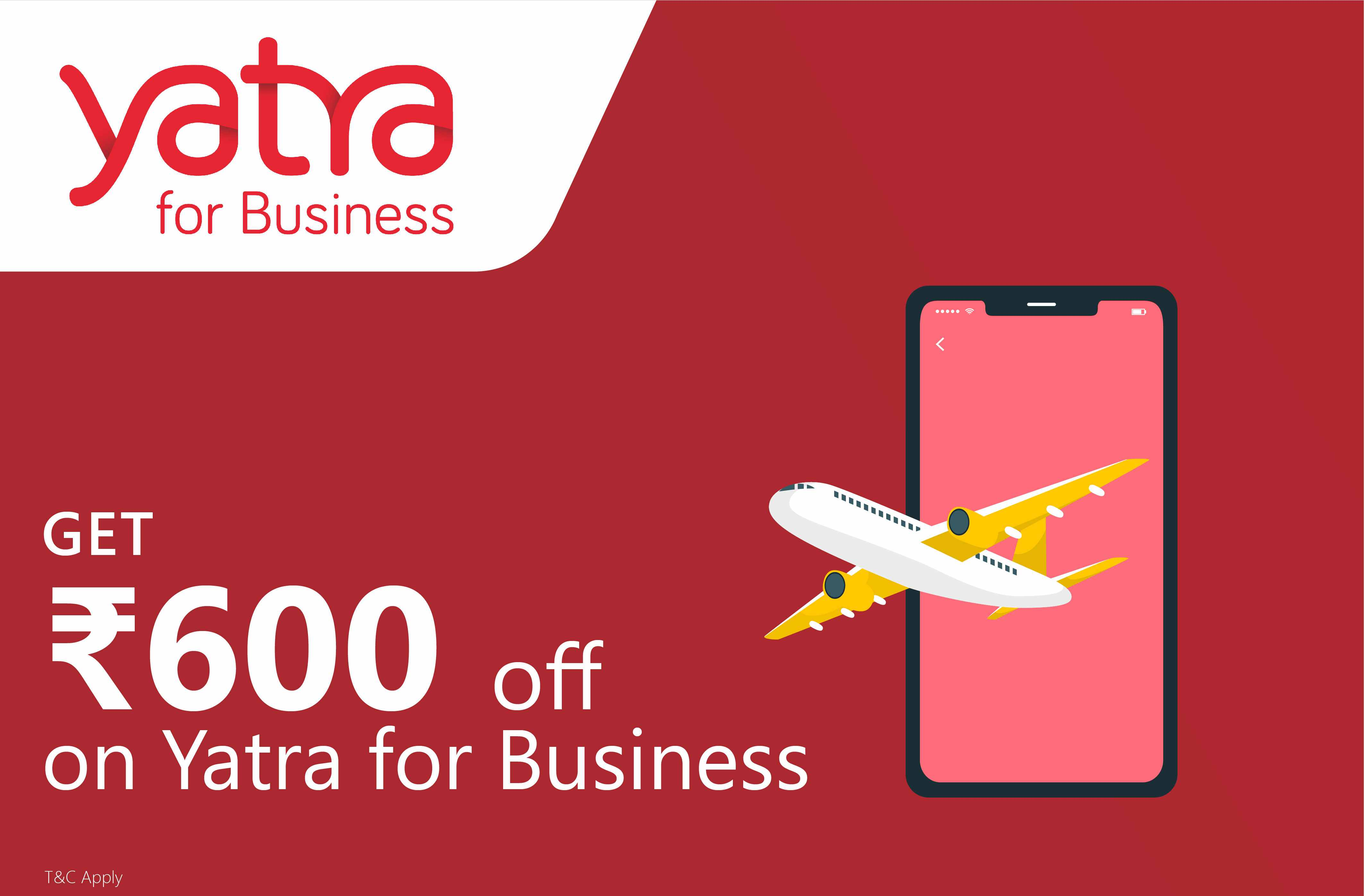 Rs.600 off on Yatra for Business