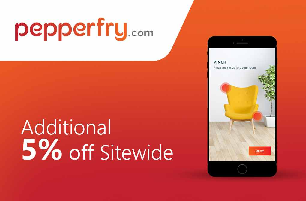 Get extra 5% off from Pepperfry
