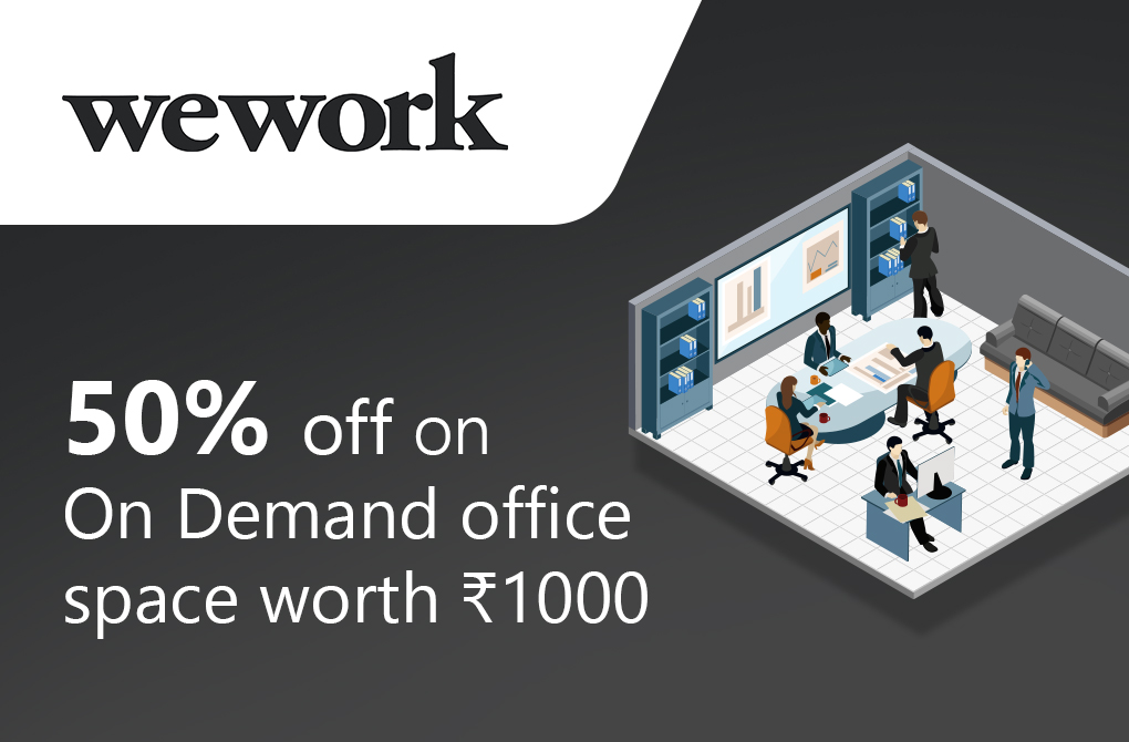 50% off on on-demand office space worth Rs.1000