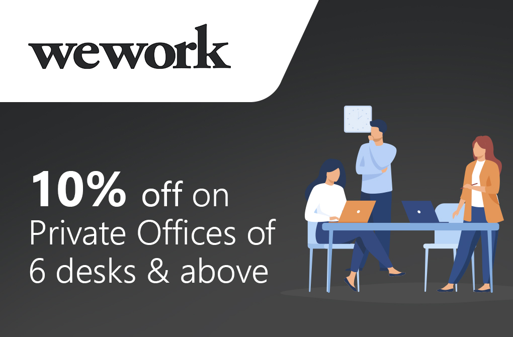 10% off on Private Office of 6 desks & above
