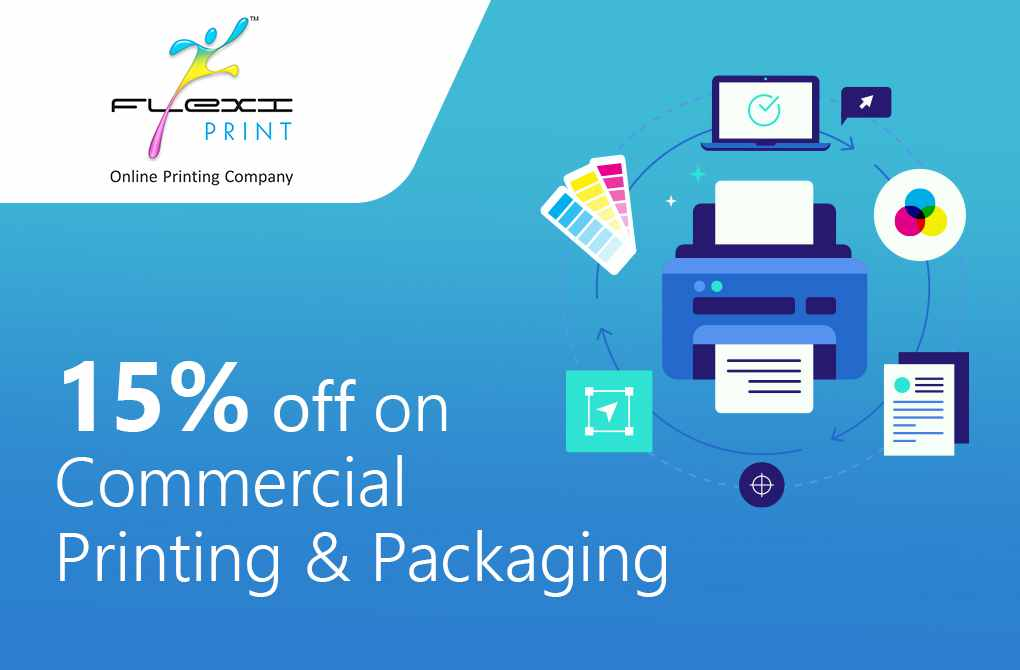 15% off on Commercial Printing and Packaging