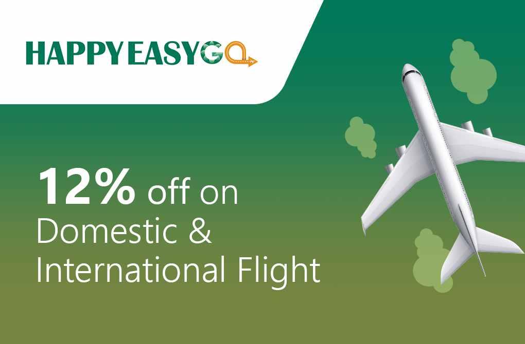 12% off on Flight Bookings