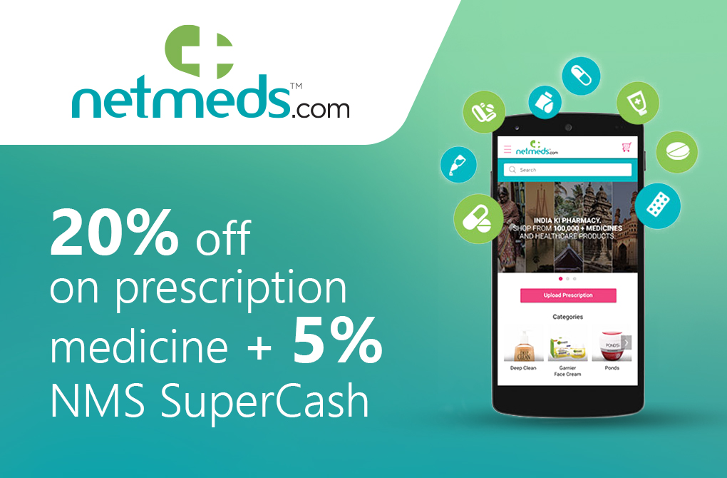 Up to 25% off from Netmeds