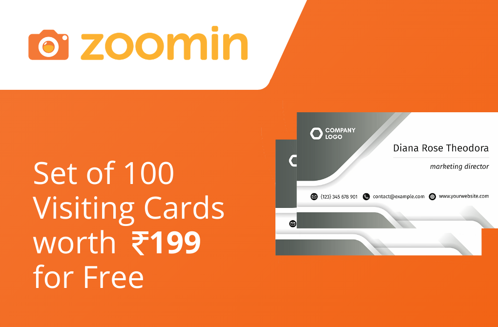 Get 100 Visiting Cards for free