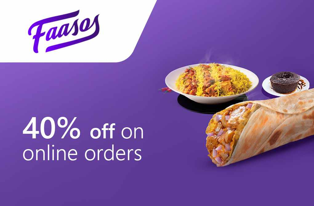 40% off from Faasos