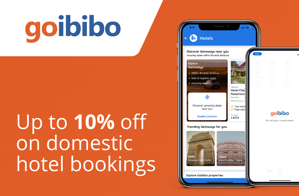 Up to Rs.5000 off on domestic hotel bookings