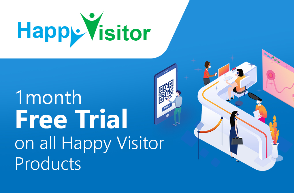 Get 1 month free trial of Visitor Management from Happy Visitor