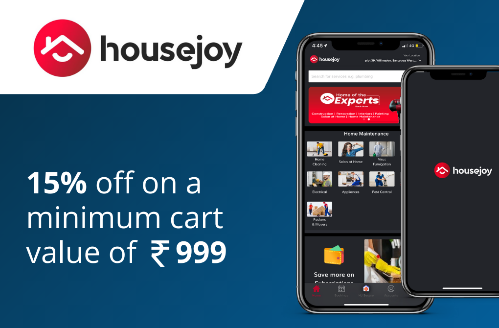 Get 15% off from Housejoy
