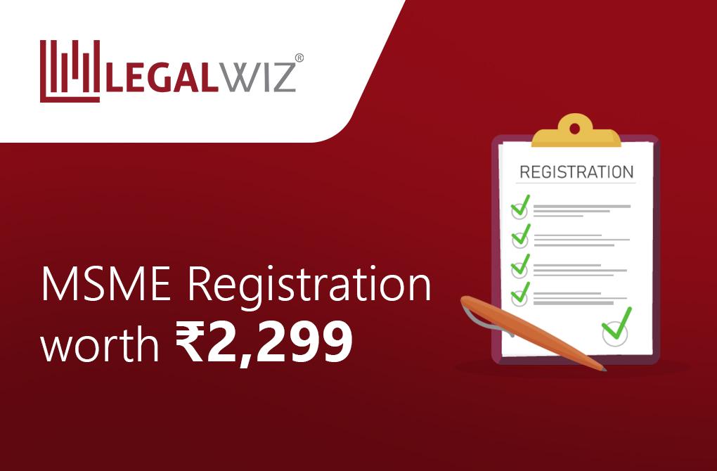MSME Registration worth Rs.2299