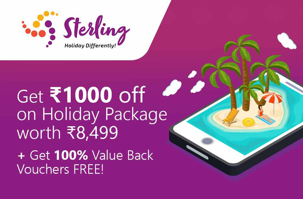 Book a package worth Rs. 8,499/- and get Rs.1,000/- discount + Benefits worth Rs. 7,499/-
