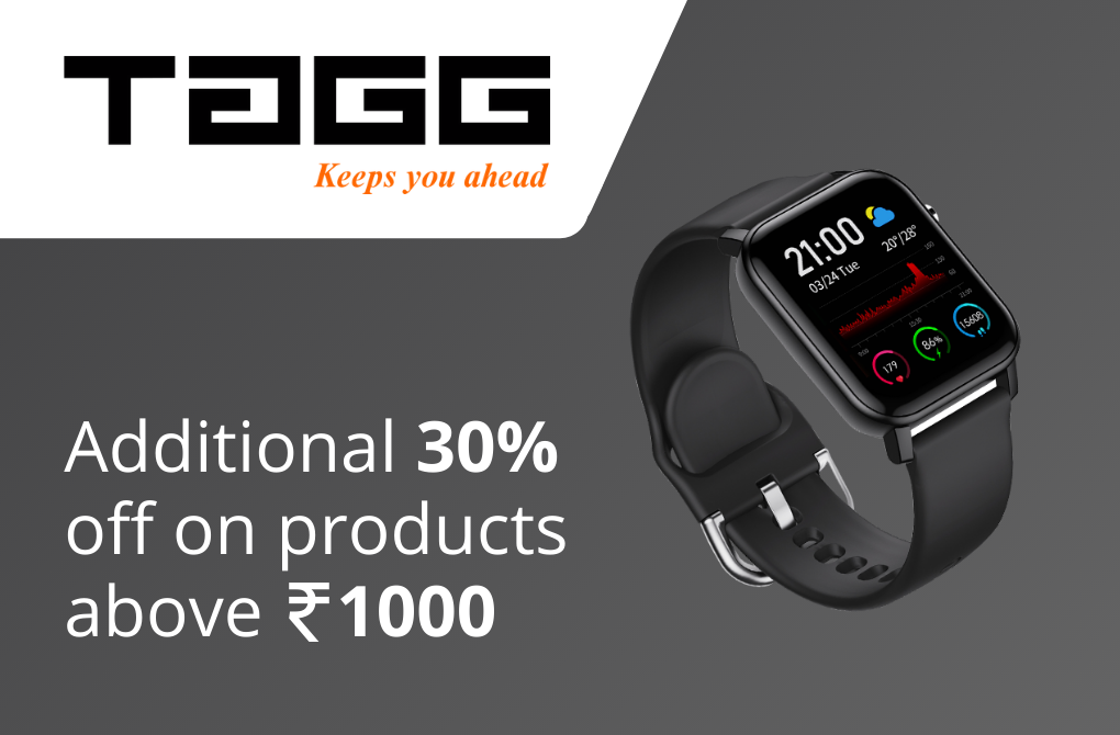 Get additional 30% off from Tagg