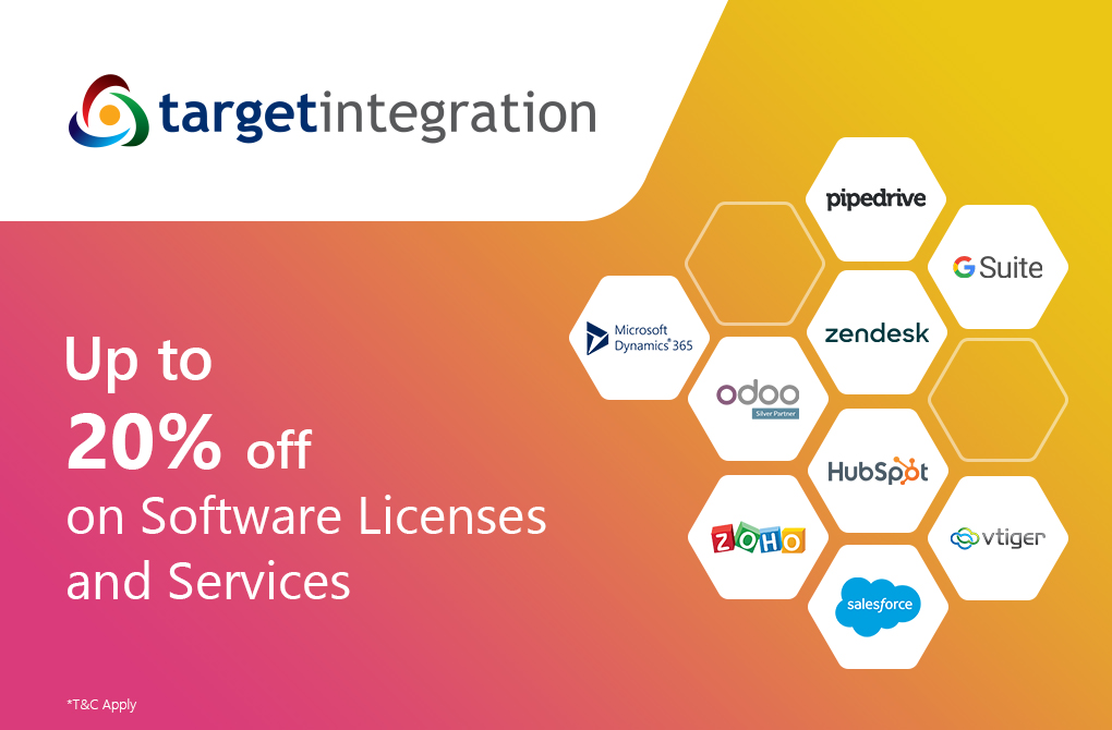 Up to 20% off on product licenses and software services