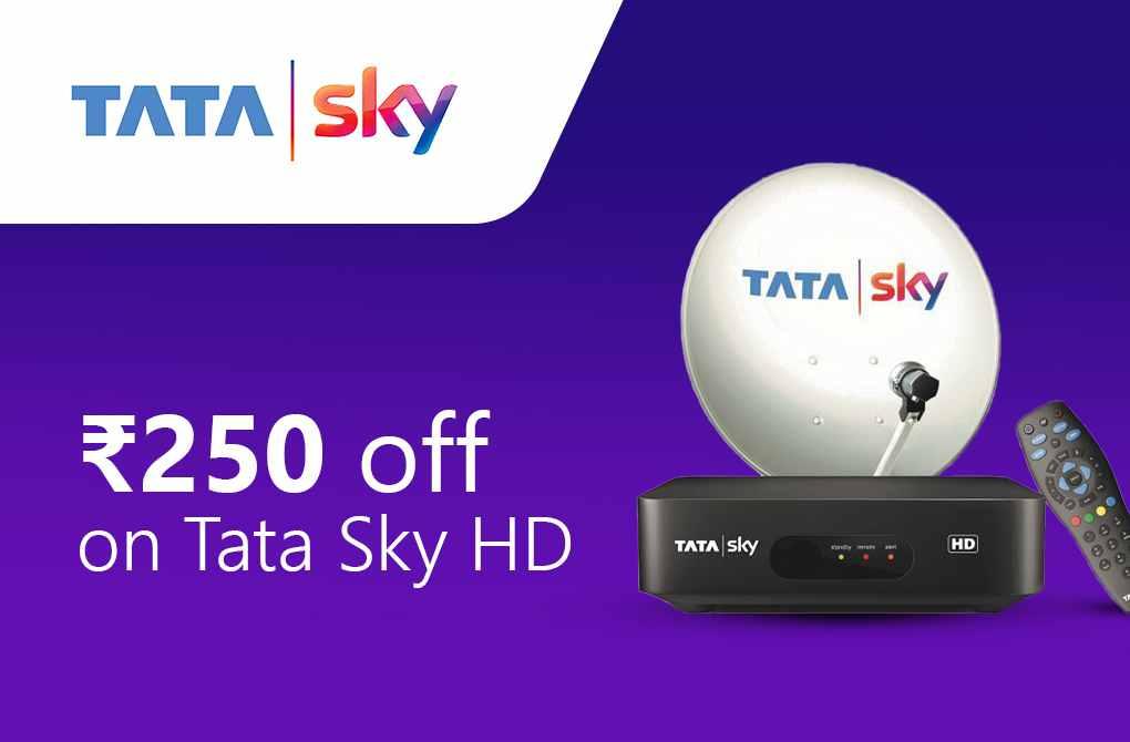 Rs.250 off on Tata Sky HD
