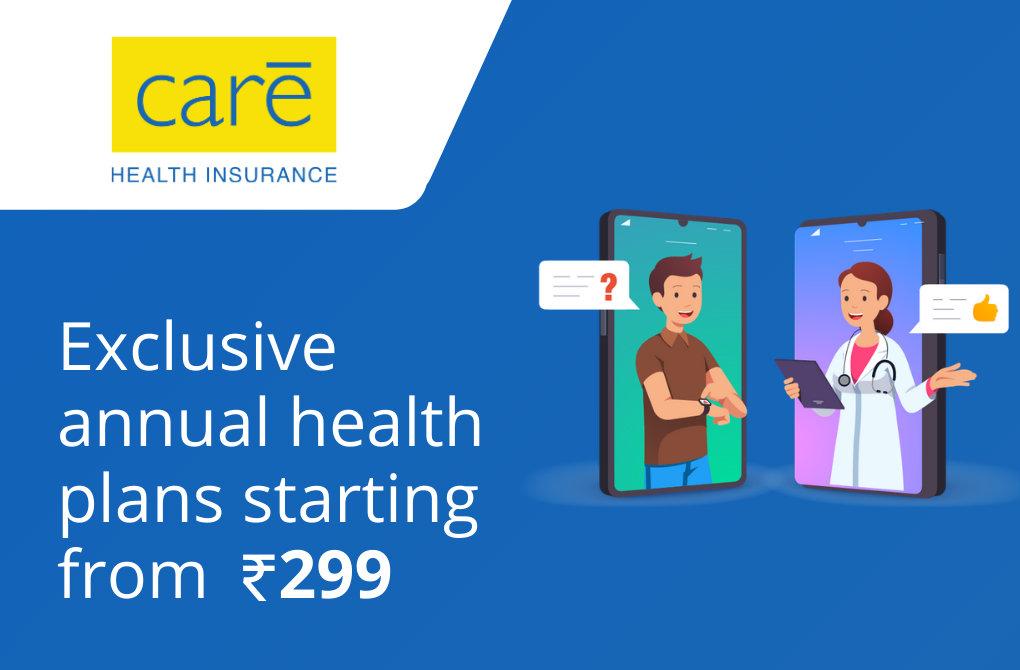 Exclusive E-Consultation plans from Care Health Insurance