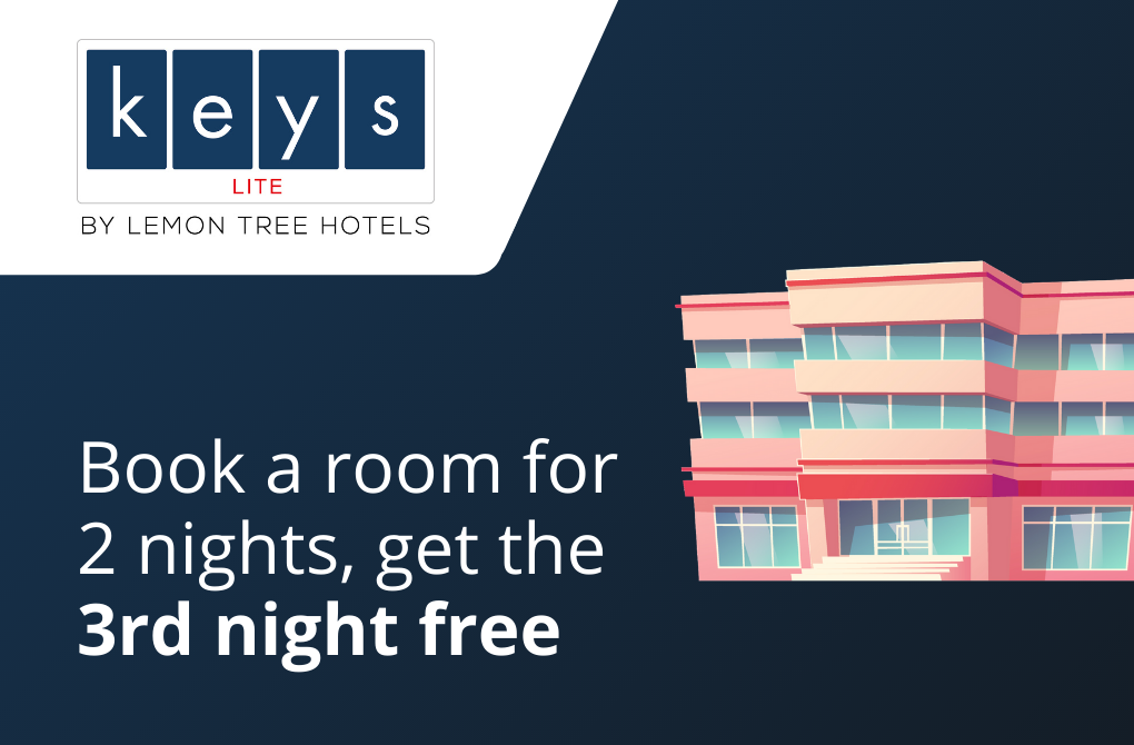 Get 1 night stay complimentary from Keys Lite