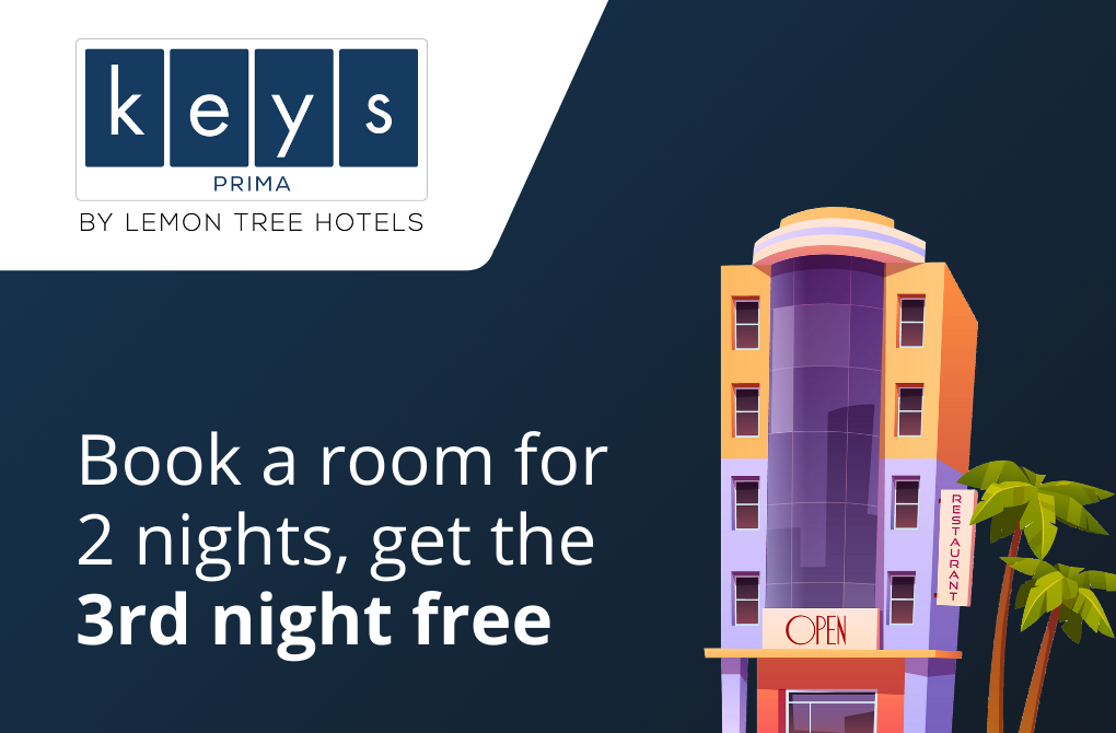 Get 1 night stay complimentary from Keys Prima
