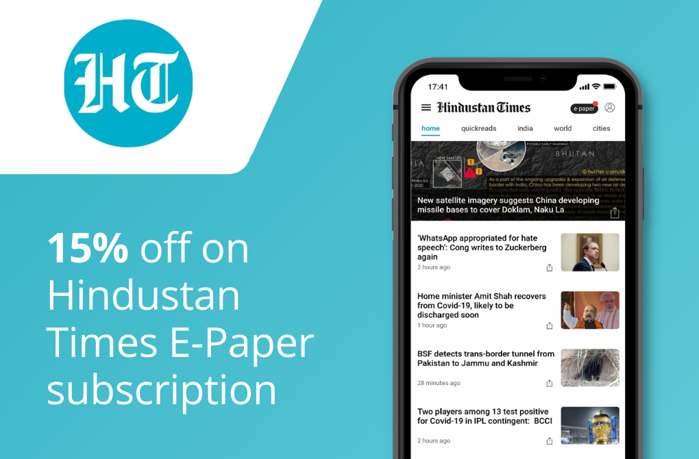 15% off from Hindustan Times