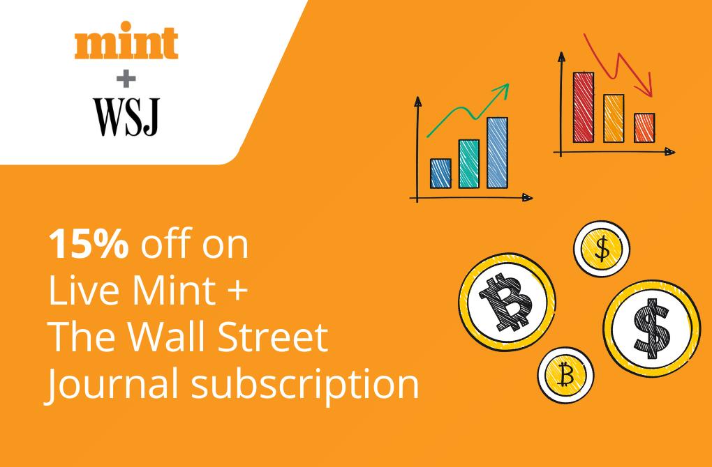 15% off from Live Mint + Wall Street Journal