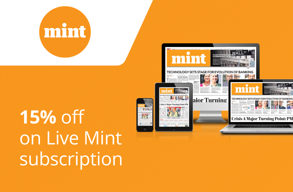 Get 15% off from Live Mint
